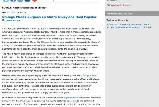 plastic,surgeon,surgery,asaps statistics,breast augmentation,liposuction,chicago il