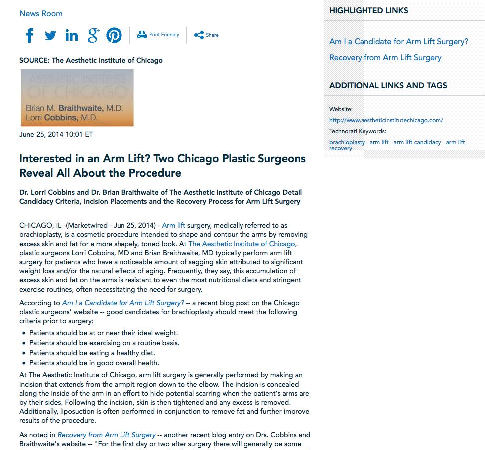 arm lift, brachioplasty, plastic surgeon in chicago