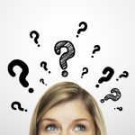 thinking women with question mark
